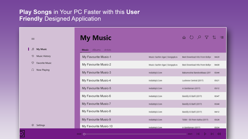 Music Player - MP3 Audio Player Screenshot