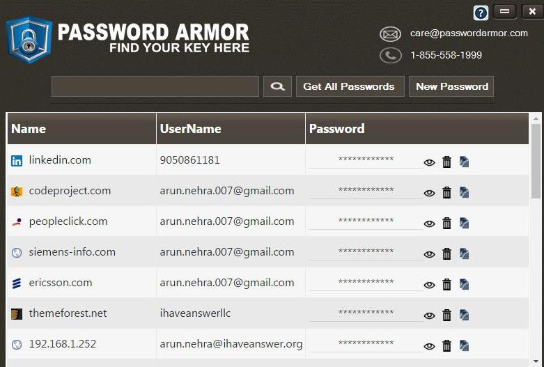 PassWordArmor Screenshot