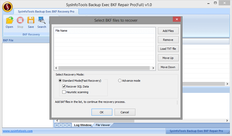 SysInfoTools Backup Exec BKF Repair Pro Screenshot