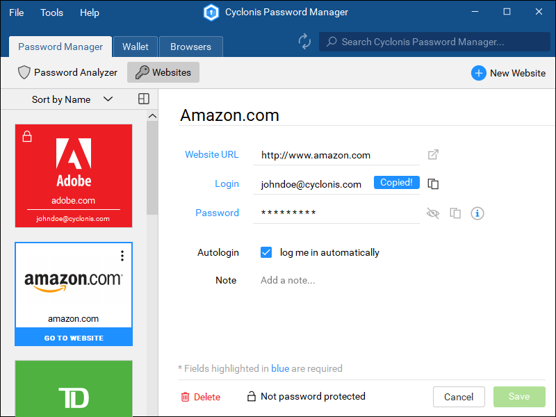 Cyclonis Password Manager 2