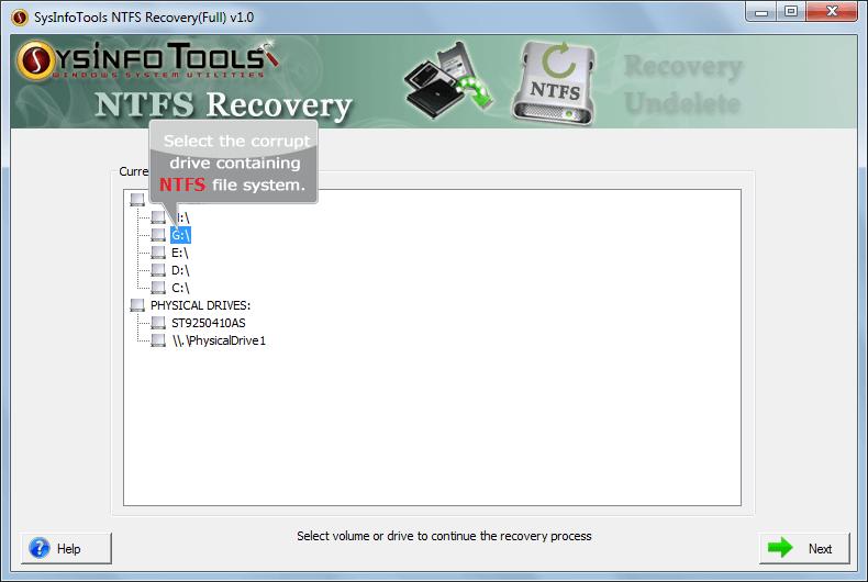 SysInfoTools NTFS Recovery Screenshot