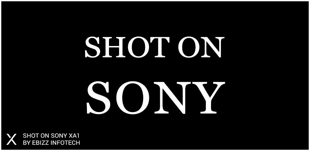 ShotOn for Sony: Auto Add Shot on Photo Watermark Screenshot