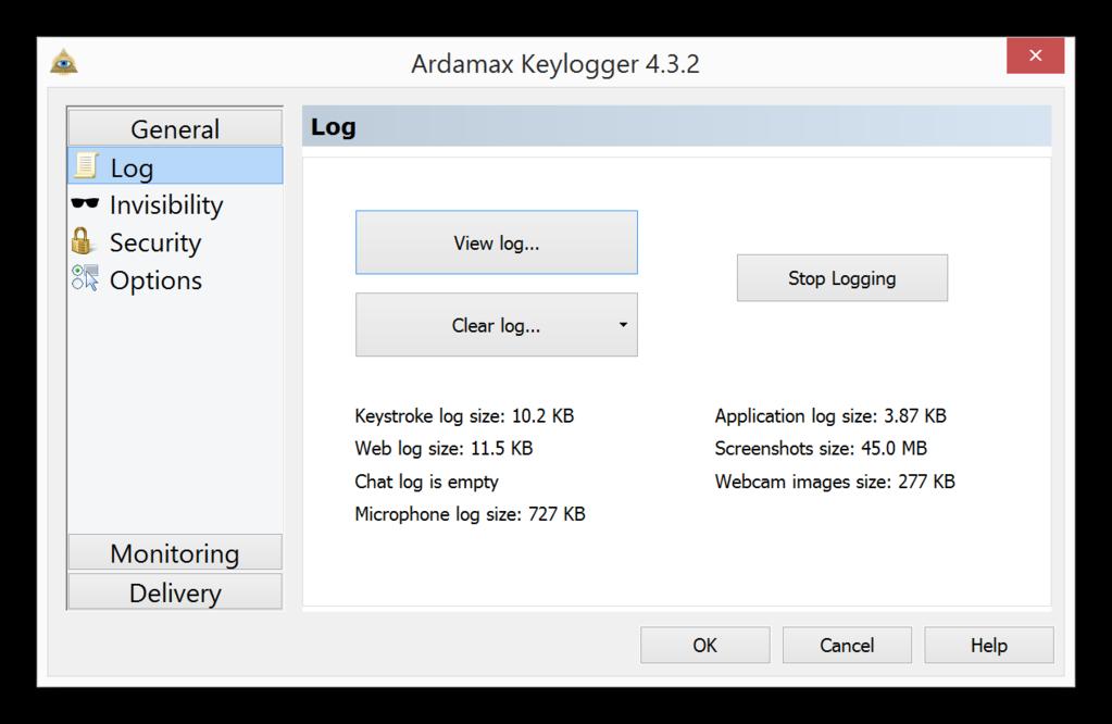 Ardamax Keylogger Screenshot