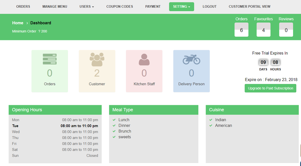 Online Food Ordering System ( FOS) Screenshot
