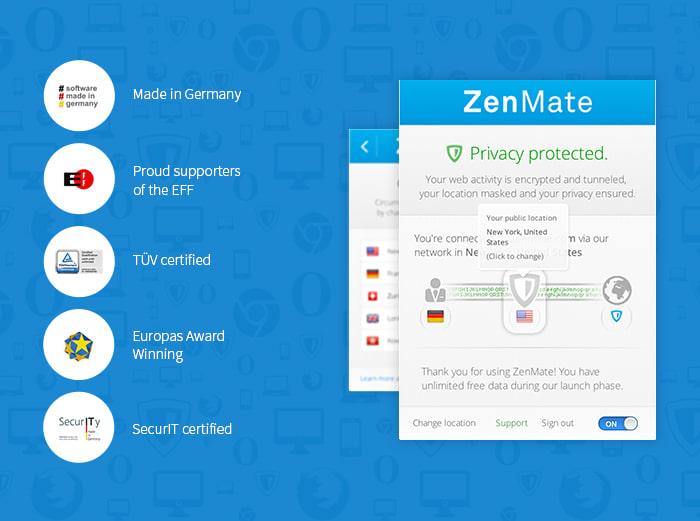 PRIVACY SECURITY TÉLÉCHARGER VPN ZENMATE