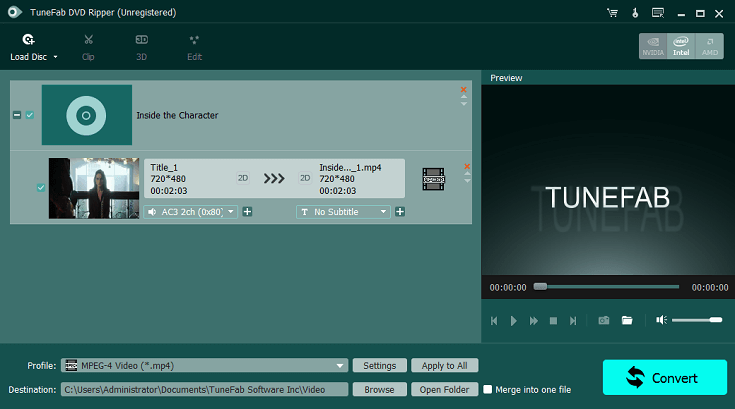 TuneFab DVD Ripper Screenshot