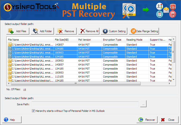 SysInfoTools Advanced Outlook Recovery Screenshot