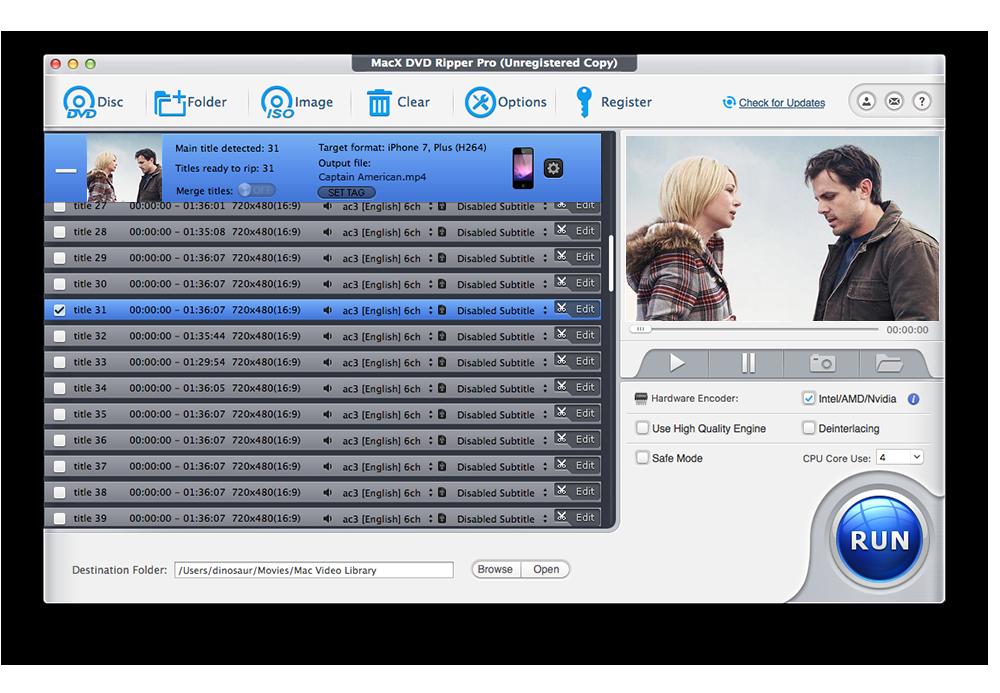 MacX DVD Video Converter Pro Pack Screenshot 2