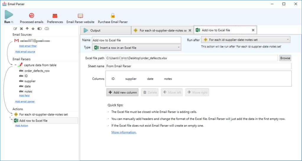 Email Parser Screenshot