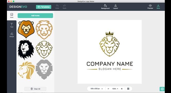 DesignEvo Logo Maker Screenshot
