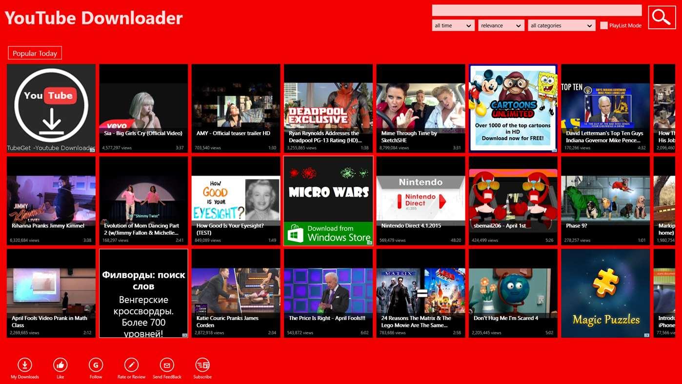 Free Instant Downloader for YouTube Screenshot