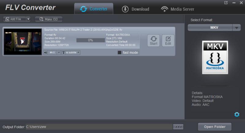 DimoSoft FLV Video Converter Screenshot