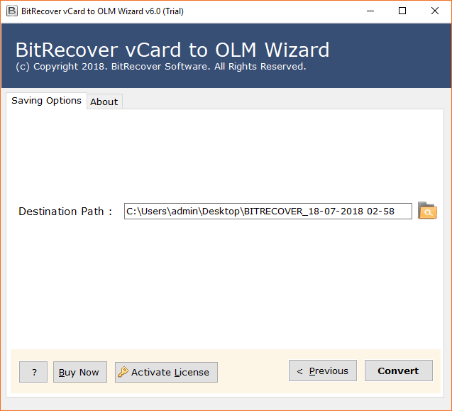 Download vCard to OLM Wizard 6 0