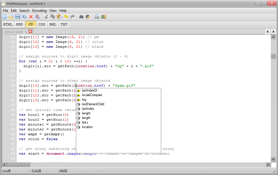 PHPNotepad Screenshot 4