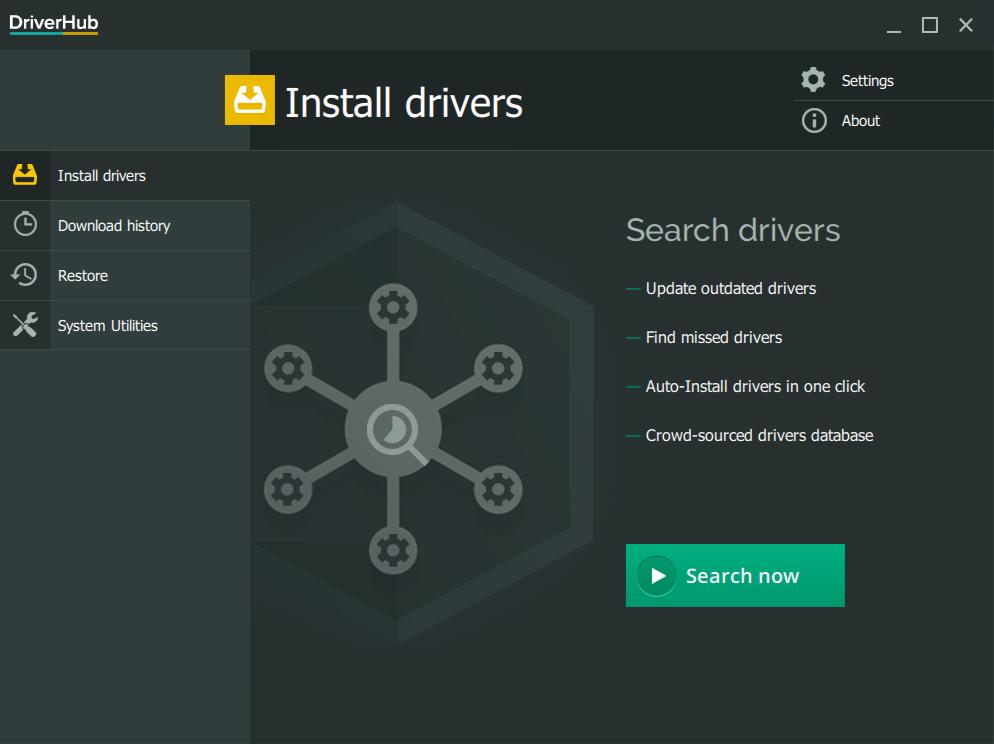 DriverHub Screenshot