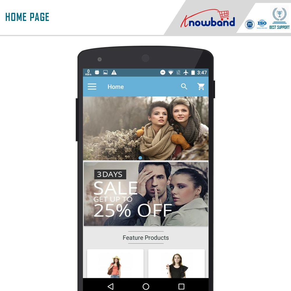 Prestashop mobile app builder 2