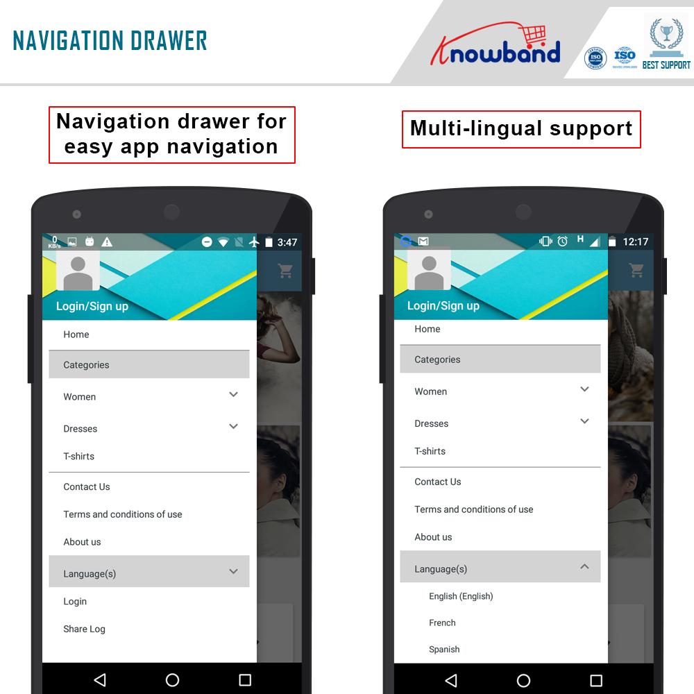 Prestashop mobile app builder 4