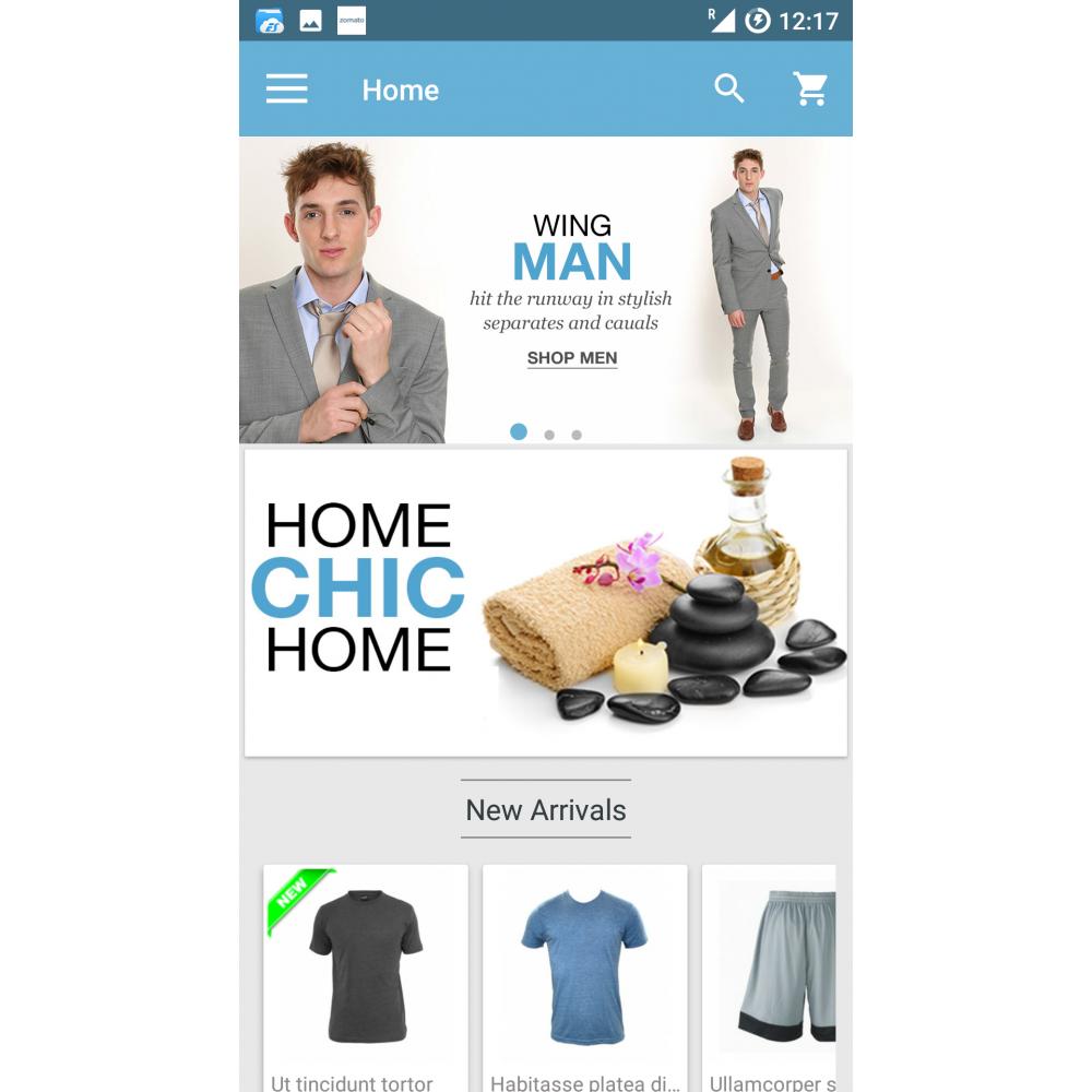 Magento Mobile App Builder Screenshot