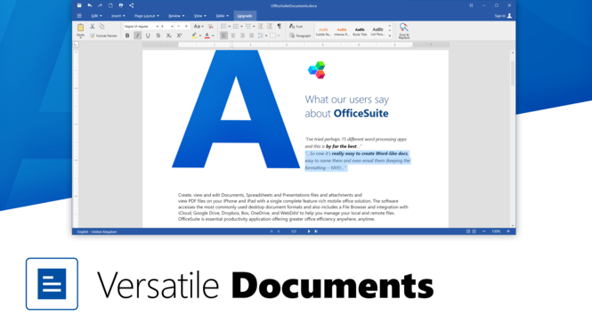 OfficeSuite Free Screenshot