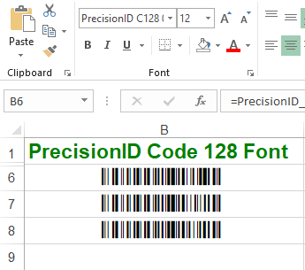 PrecisionID Code 128 Fonts Screenshot