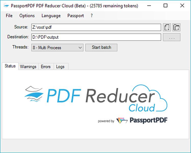 PDF Reducer Cloud Screenshot