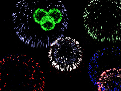 fireworks 3d screensaver screenshot