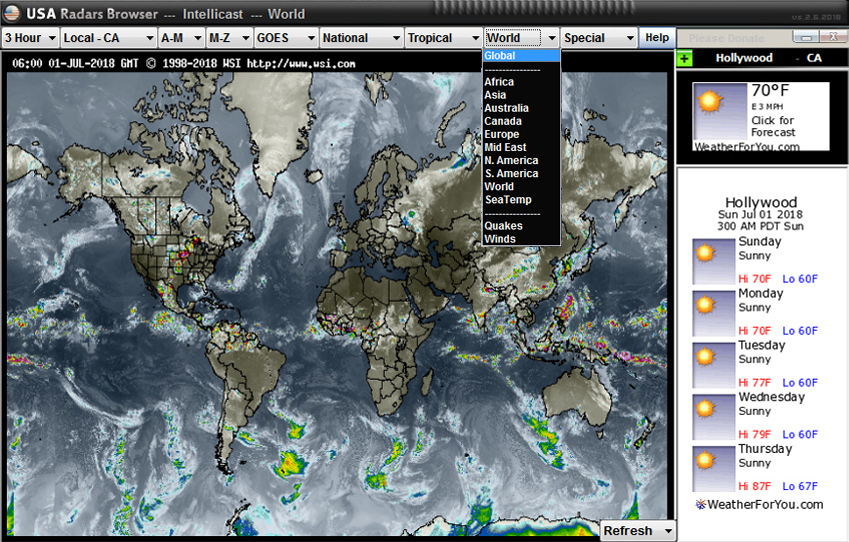 USA Radars Weather Browser 3