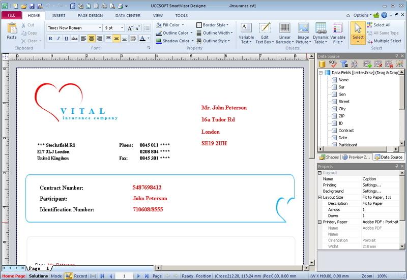 SmartVizor VDP Software Screenshot