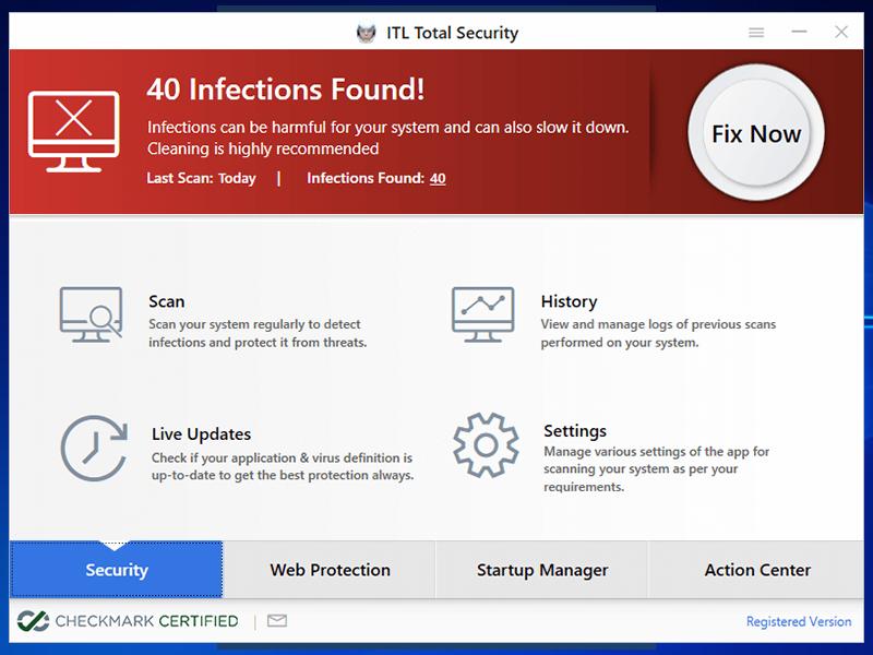 ITL Total Security Screenshot