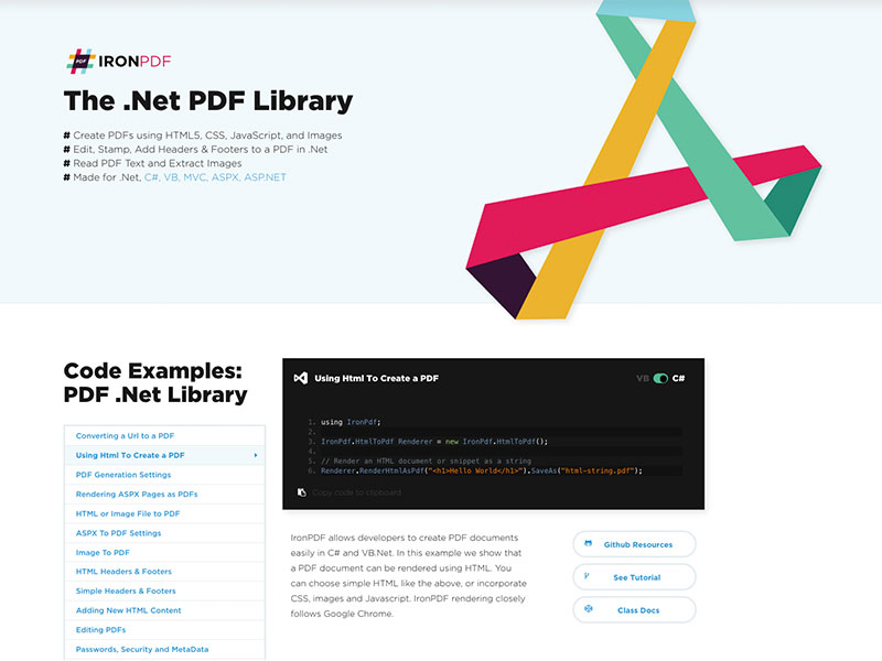 Download The  Net PDF Library 5 0 5 2