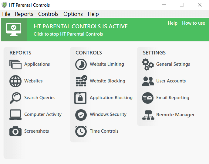 HT Parental Controls Screenshot
