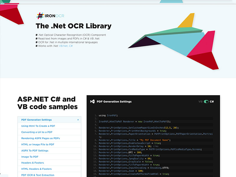 Download  Net OCR Library 4 4 0