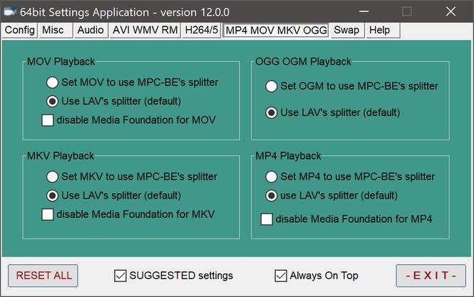 ADVANCED Codecs Screenshot