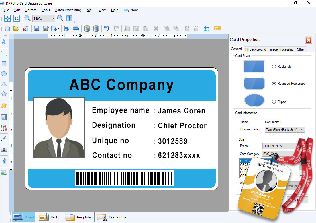 free download drpu id card design software