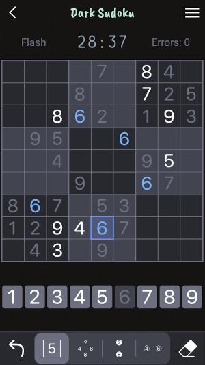 Dark Sudoku Screenshot