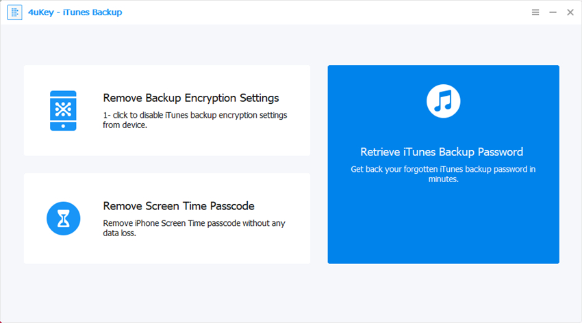 Tenorshare iTunes Backup for Mac Screenshot