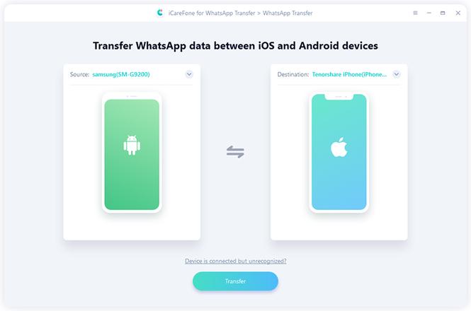 Tenorshare iCareFone for WhatsApp Transfer Mac Screenshot