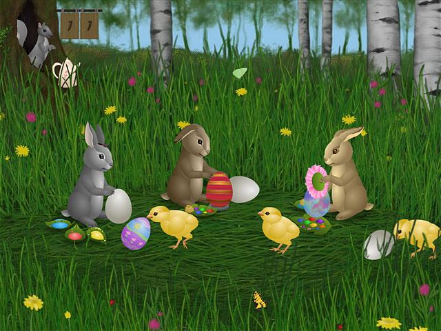 Easter Bunnies Screensaver Screenshot 1