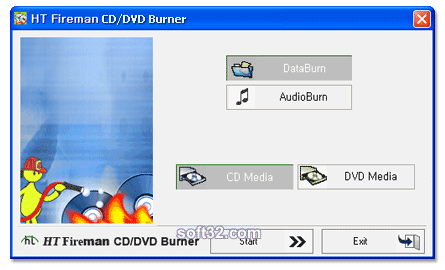 HT Fireman CD/DVD Burner Screenshot 1
