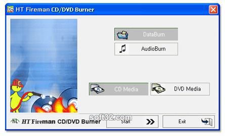 HT Fireman CD/DVD Burner Screenshot