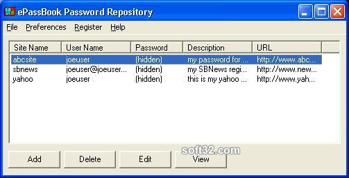 ePassBook Password Repository Screenshot 3