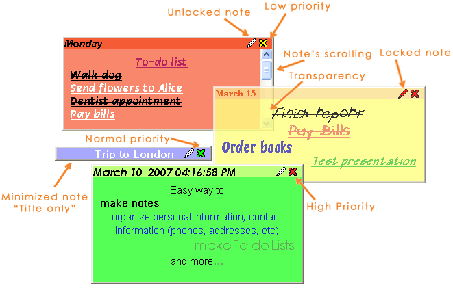 Free Sticky Notes Screenshot 1
