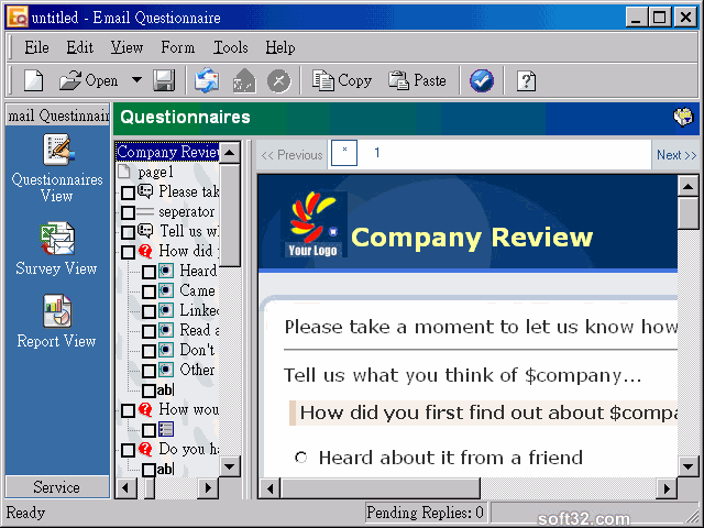 Email Questionnaire Screenshot 2