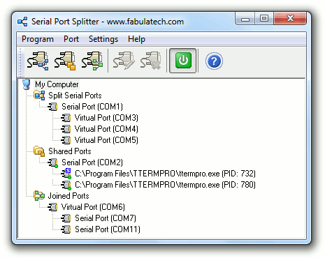 Serial Port Splitter Screenshot