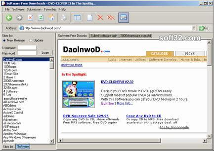 Daolnwod Software Submitter Screenshot