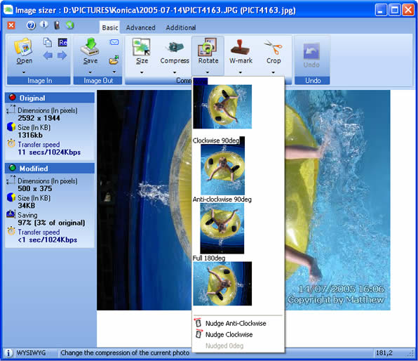 Image Sizer Screenshot