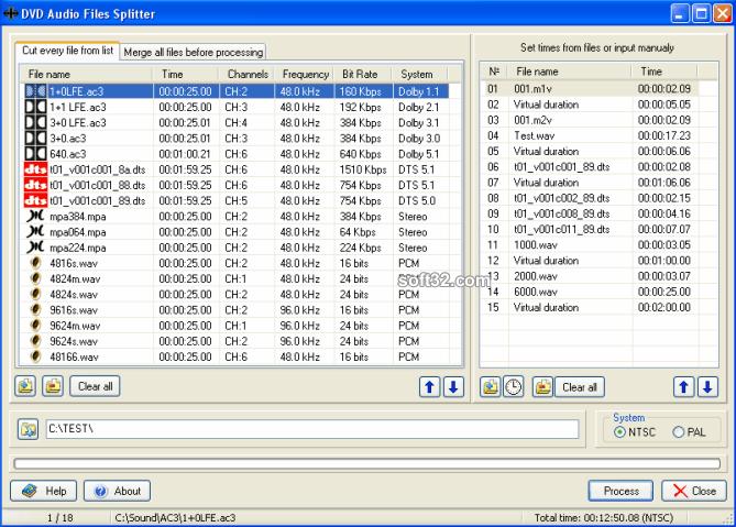 DVD Audio Files Splitter Screenshot 3