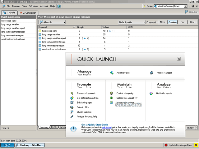 Web CEO Professional Suite Screenshot 2