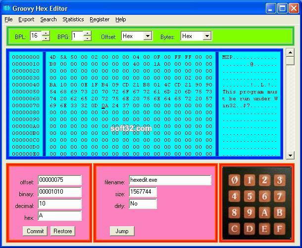 Groovy Hex Editor Screenshot 3