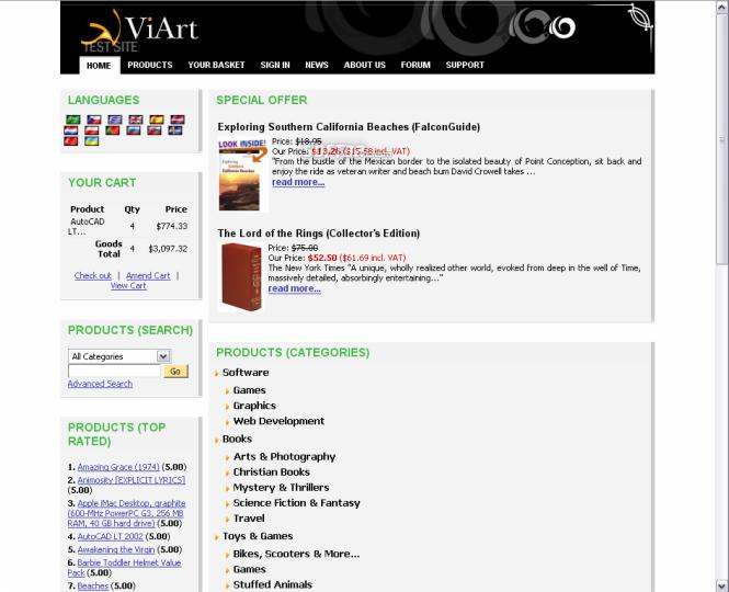 ViArt Shop Free Shopping Cart Screenshot 4